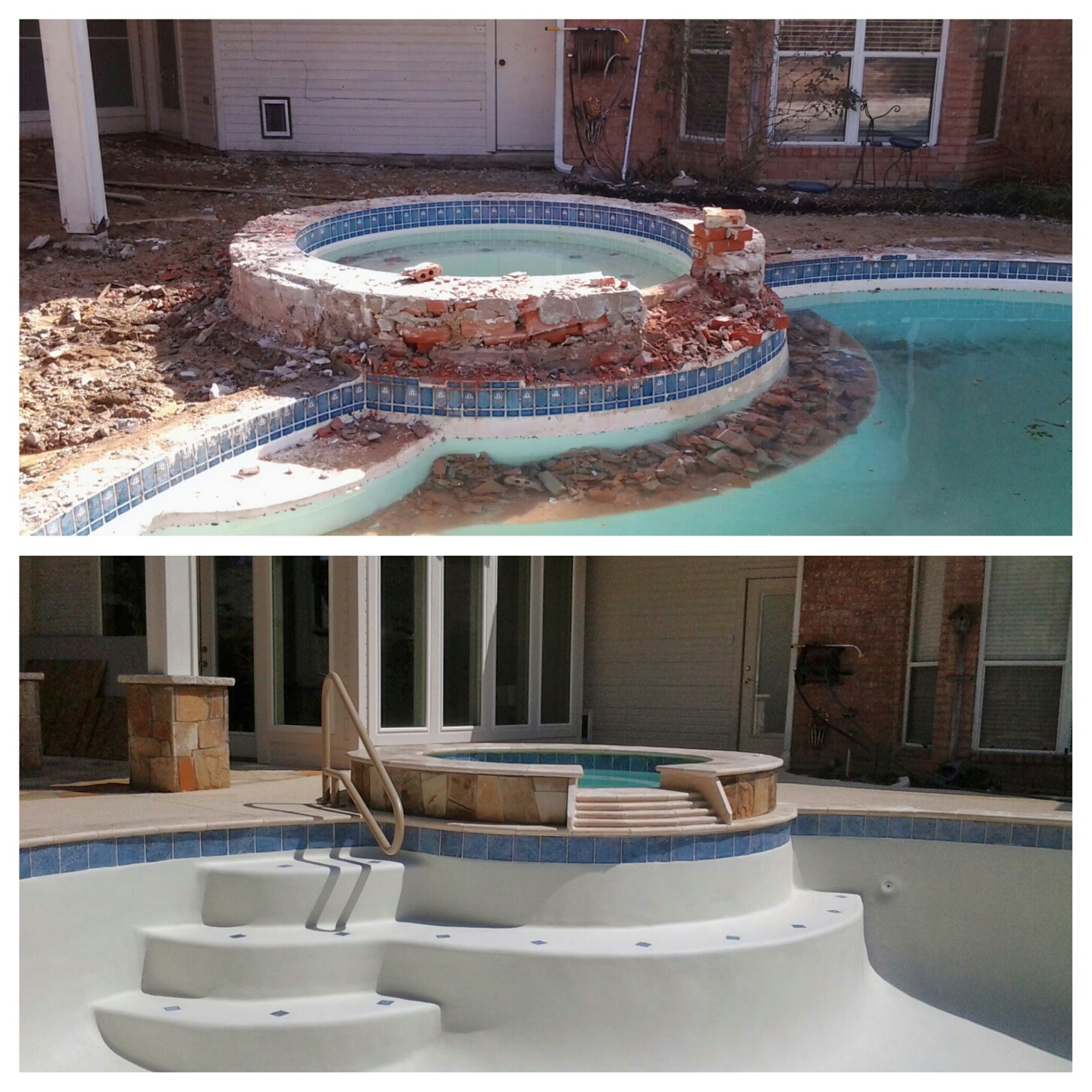 Swimming Pool Transformation in Coppell, TX!