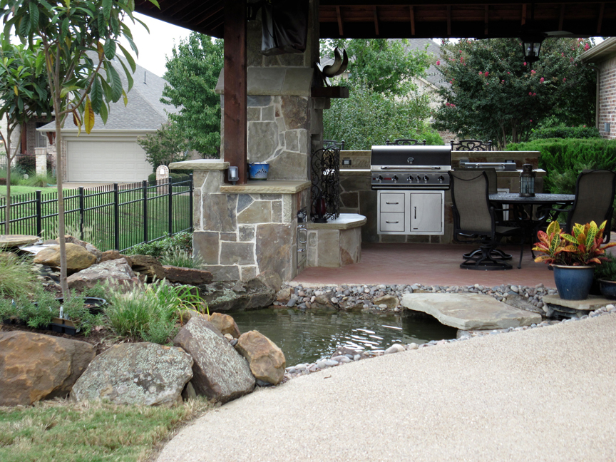 Outdoor kitchens are great all year around in Texas!