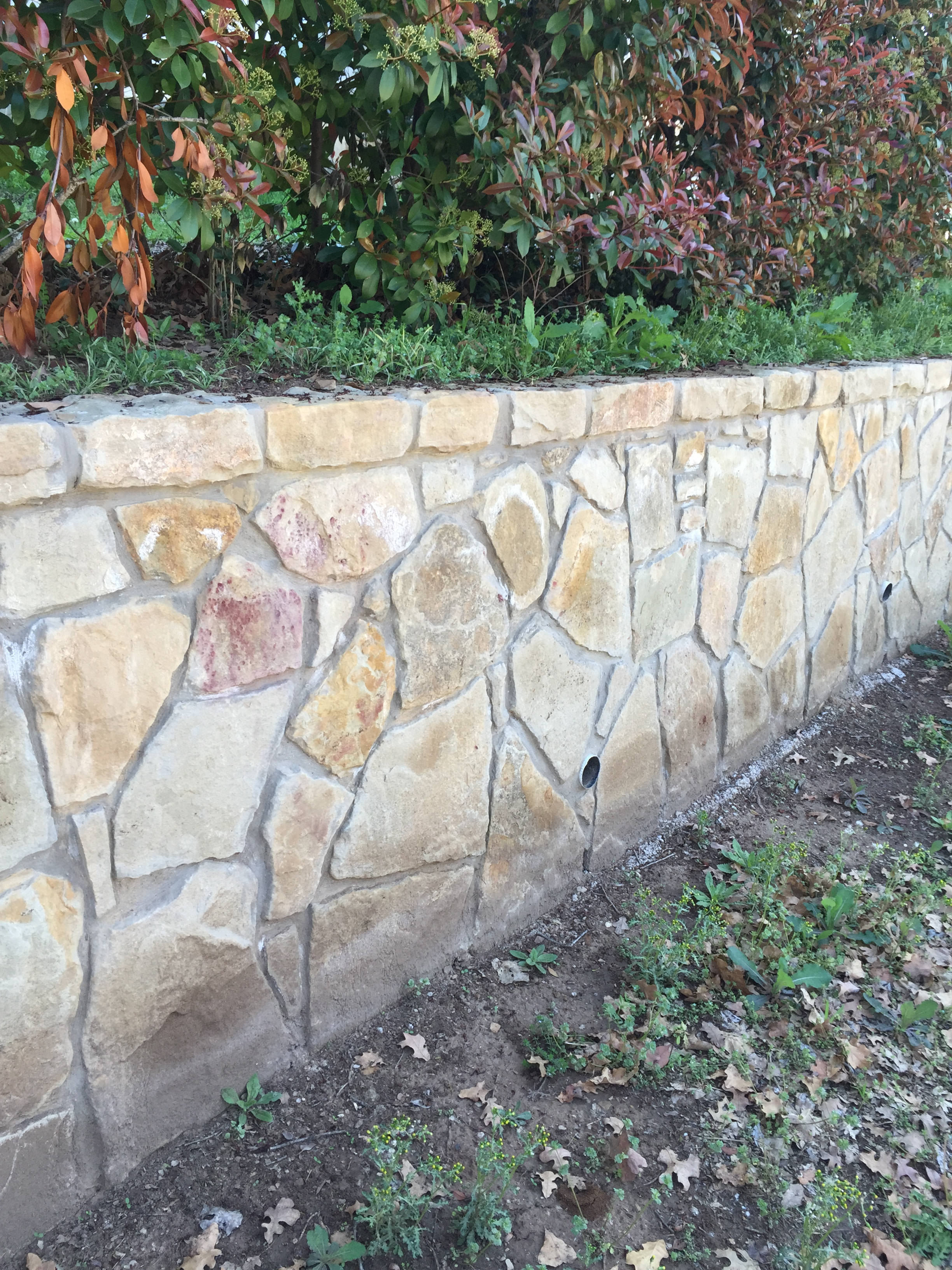 Beautiful Natural Stone Retaining Wall